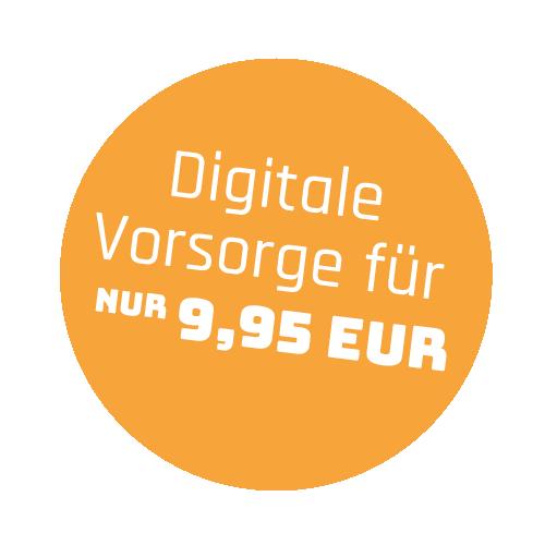 """Störer mit dem Text """"Digitale Vorsorge für nur 9,95 EUR"""""""
